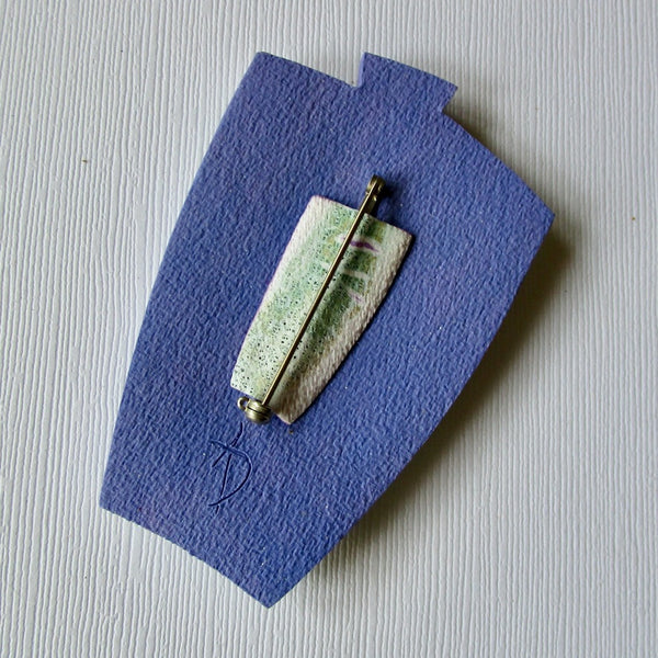 Blue Violet Crackle Brooch/Pendant