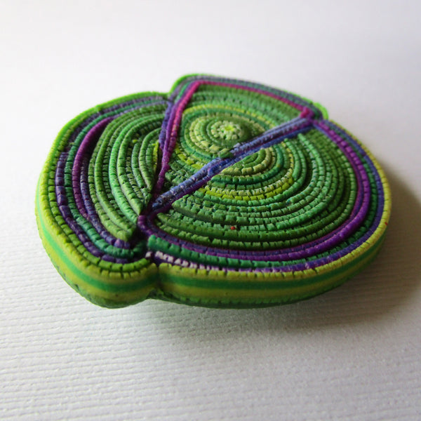 Magenta Chartreuse Textured Brooch/Pendant