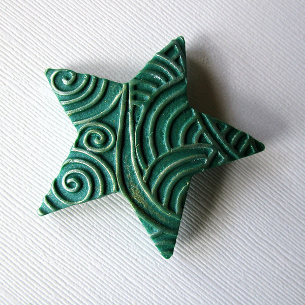 Small Textured Star Brooch/Pendant
