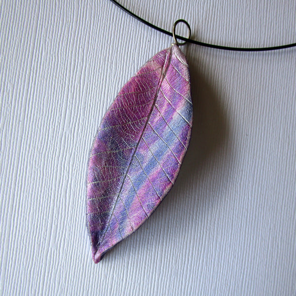 Textured Leaf Pendants