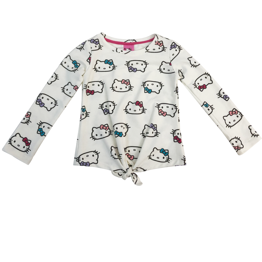 PLAYERA MANGA LARGA HELLO KITTY