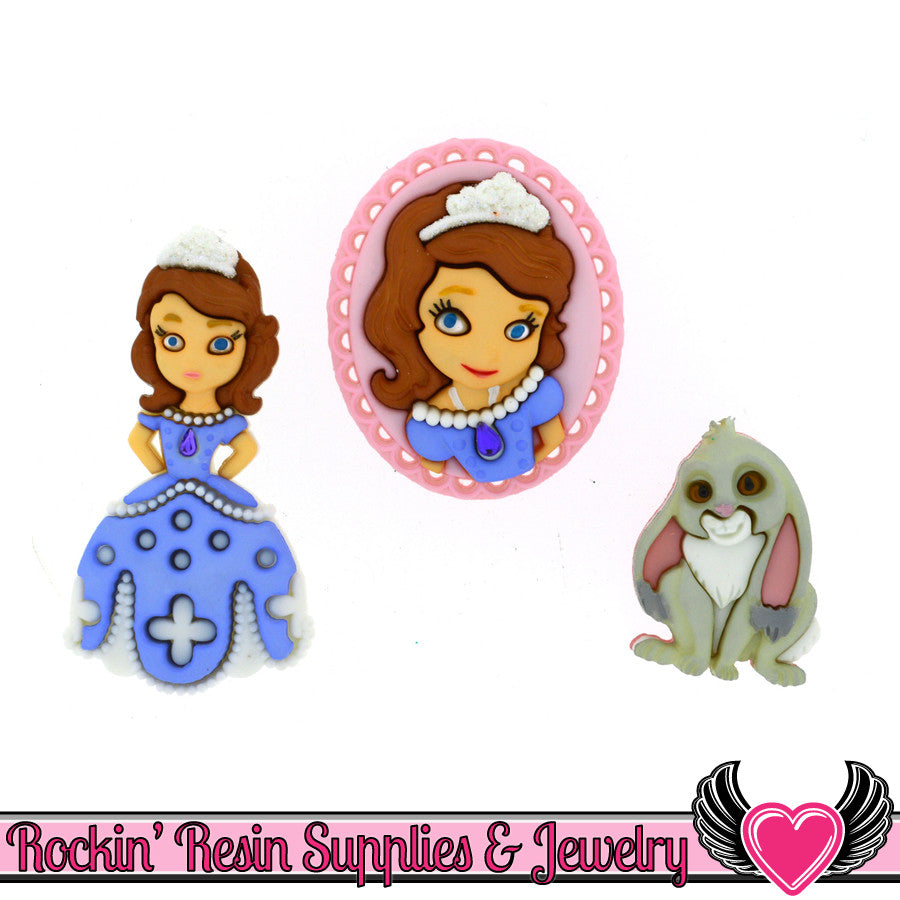 Sofia The First Disney Princess Dress It Up Jesse James Buttons