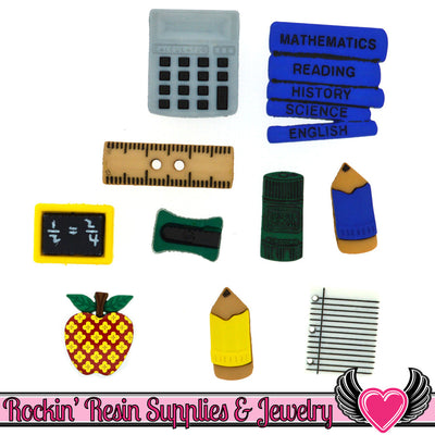 Jesse James Buttons 10pc PENCIL BOX Buttons