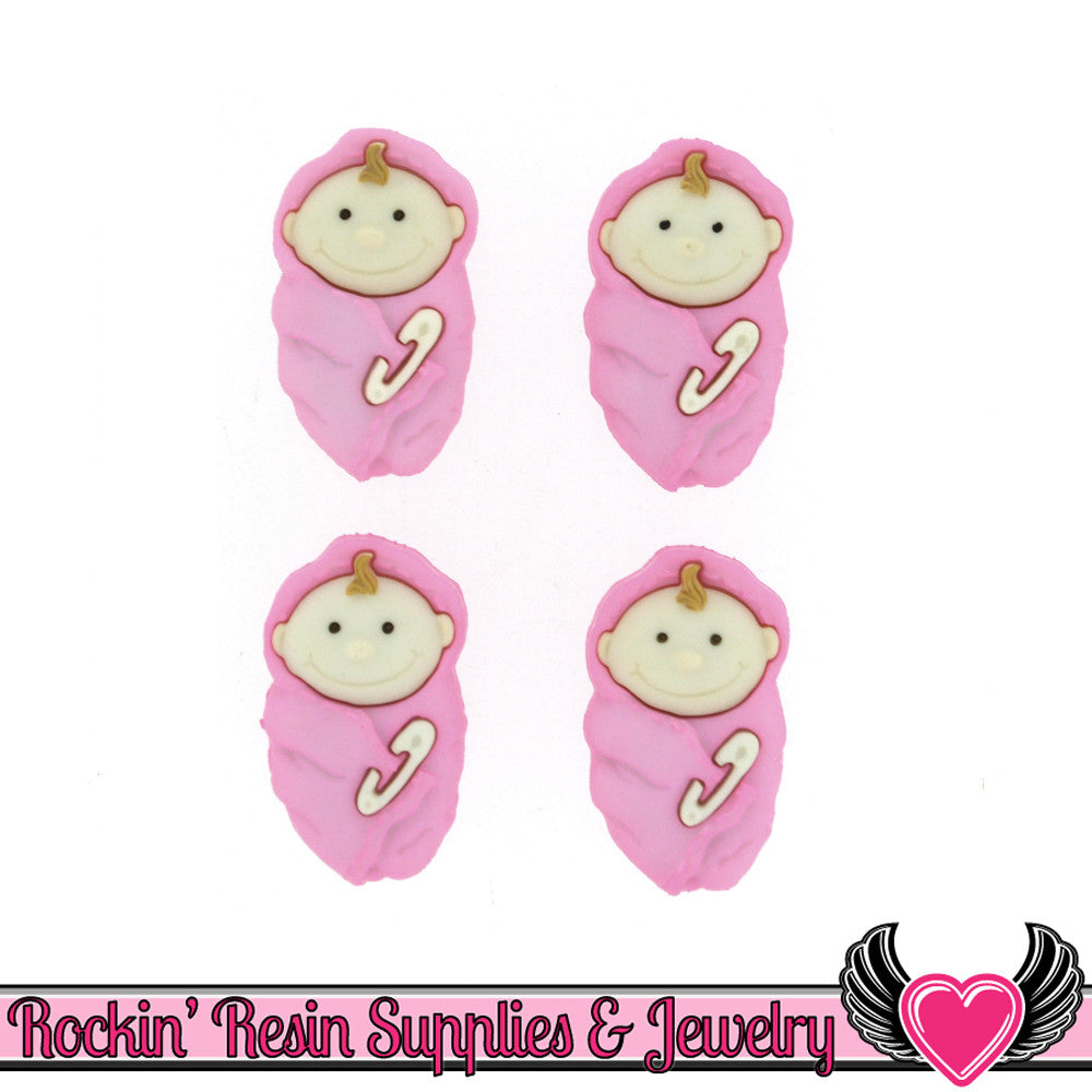 Jesse James Buttons 4 pc BABY GIRL Buttons