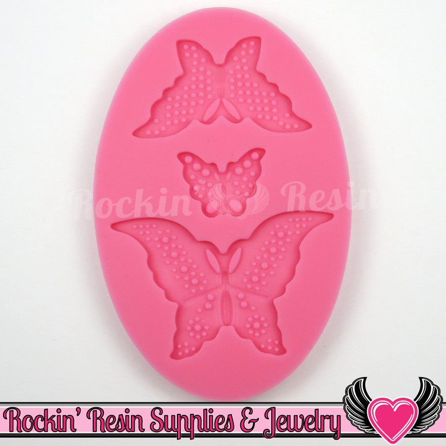 Butterfly SILICONE MOLD, Food Grade, Flexible