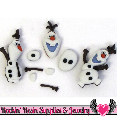 DISNEY FROZEN OLAF Licensed Dress It Up Jesse James Buttons and Flatback Cabochons - Rockin Resin  - 1