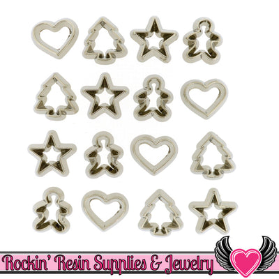 Jesse James Dress It Up 12 pc Mini Cookie Cutters Flatback Cabochons - Rockin Resin  - 1