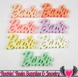8 Pcs Pastel XL Girly Name Decoden Flatback Resin Kawaii Cabochons - Rockin Resin  - 1