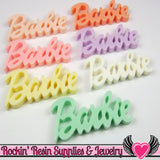8 Pcs Pastel XL Girly Name Decoden Flatback Resin Kawaii Cabochons - Rockin Resin  - 2