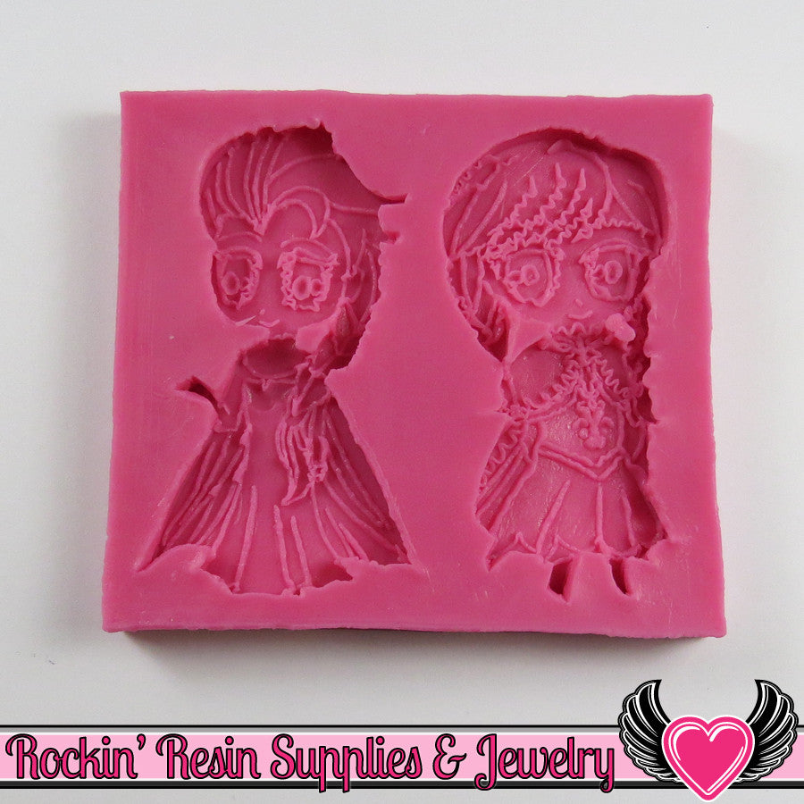 Cartoon Princesses SILICONE MOLD Food Grade