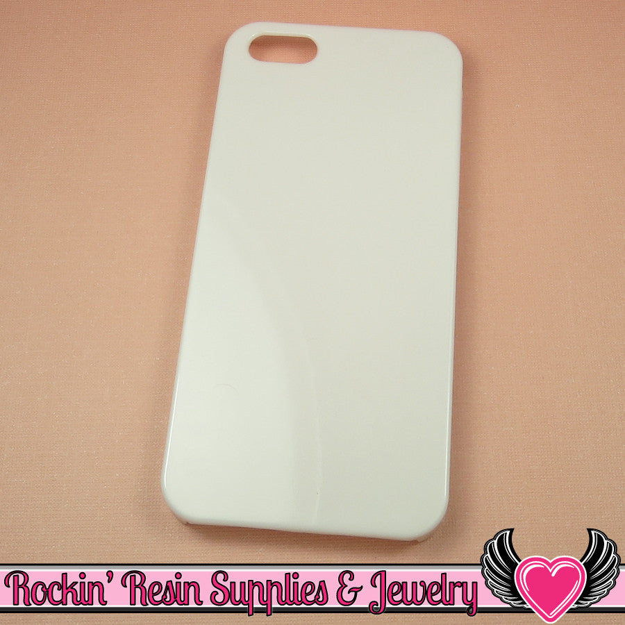 White Iphone 5 Shell Cellphone Case for Decoden
