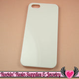 White Iphone 5 Shell Cellphone Case for Decoden - Rockin Resin  - 1
