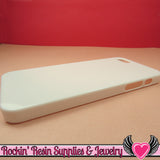 White Iphone 5 Shell Cellphone Case for Decoden - Rockin Resin  - 2