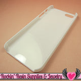 White Iphone 5 Shell Cellphone Case for Decoden - Rockin Resin  - 3