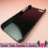 Black Iphone 5 Shell Cellphone Case for Decoden - Rockin Resin  - 1