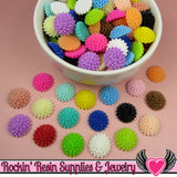 Chrysanthemum Resin Mum Flower Cabochons Earring Pairs or Mixed Colors  15mm - Rockin Resin  - 2