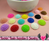 Chrysanthemum Resin Mum Flower Cabochons Earring Pairs or Mixed Colors  15mm - Rockin Resin  - 3