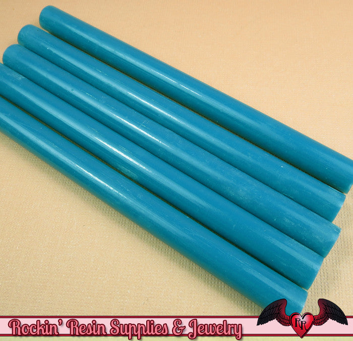 Blue Mini Hot GLUE STICKS / Deco Sauce / Fake Icing / Nail Art Stick / Faux Wax Seals - Rockin Resin  - 1