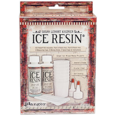 ICE RESIN 8 oz Kit Jewelers Grade Crystal Clear Doming Resin - Rockin Resin