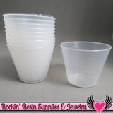 1 oz Plastic Resin Graduated Mixing Cups (50 pieces) - Rockin Resin