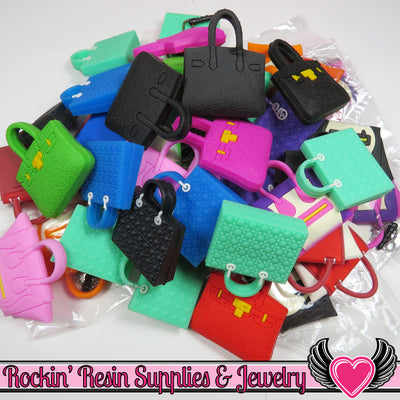 Seconds 4pc Handbag Purse Cabochons Cellphone Decorations - Rockin Resin