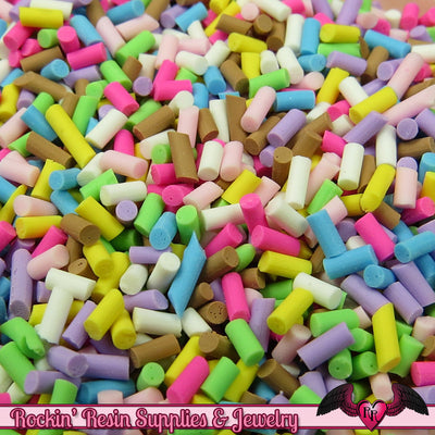 Fun Mix FAKE SPRINKLES Faux Food Simulation Topping Polymer Clay Miniature Sweets Cupcake and Cake Deco 13 grams - Rockin Resin  - 1