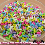 Fun Mix FAKE SPRINKLES Faux Food Simulation Topping Polymer Clay Miniature Sweets Cupcake and Cake Deco 13 grams - Rockin Resin  - 2