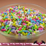 Fun Mix FAKE SPRINKLES Faux Food Simulation Topping Polymer Clay Miniature Sweets Cupcake and Cake Deco 13 grams - Rockin Resin  - 3