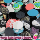Grade B Resin CAMEOS Bulk 10 piece 30x40mm Grab Bag Decoden Cameo Cabochons - Rockin Resin  - 5