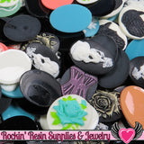 Grade B Resin CAMEOS Bulk 10 piece 30x40mm Grab Bag Decoden Cameo Cabochons - Rockin Resin  - 1