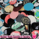 Grade B Resin CAMEOS Bulk 10 piece 30x40mm Grab Bag Decoden Cameo Cabochons - Rockin Resin  - 2
