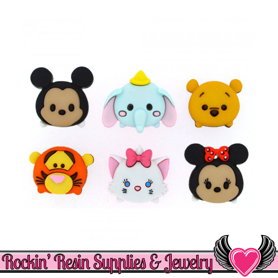 Disney TSUM TSUM Character Heads Buttons Or Turn them into Flatback Cabochons - Rockin Resin  - 1