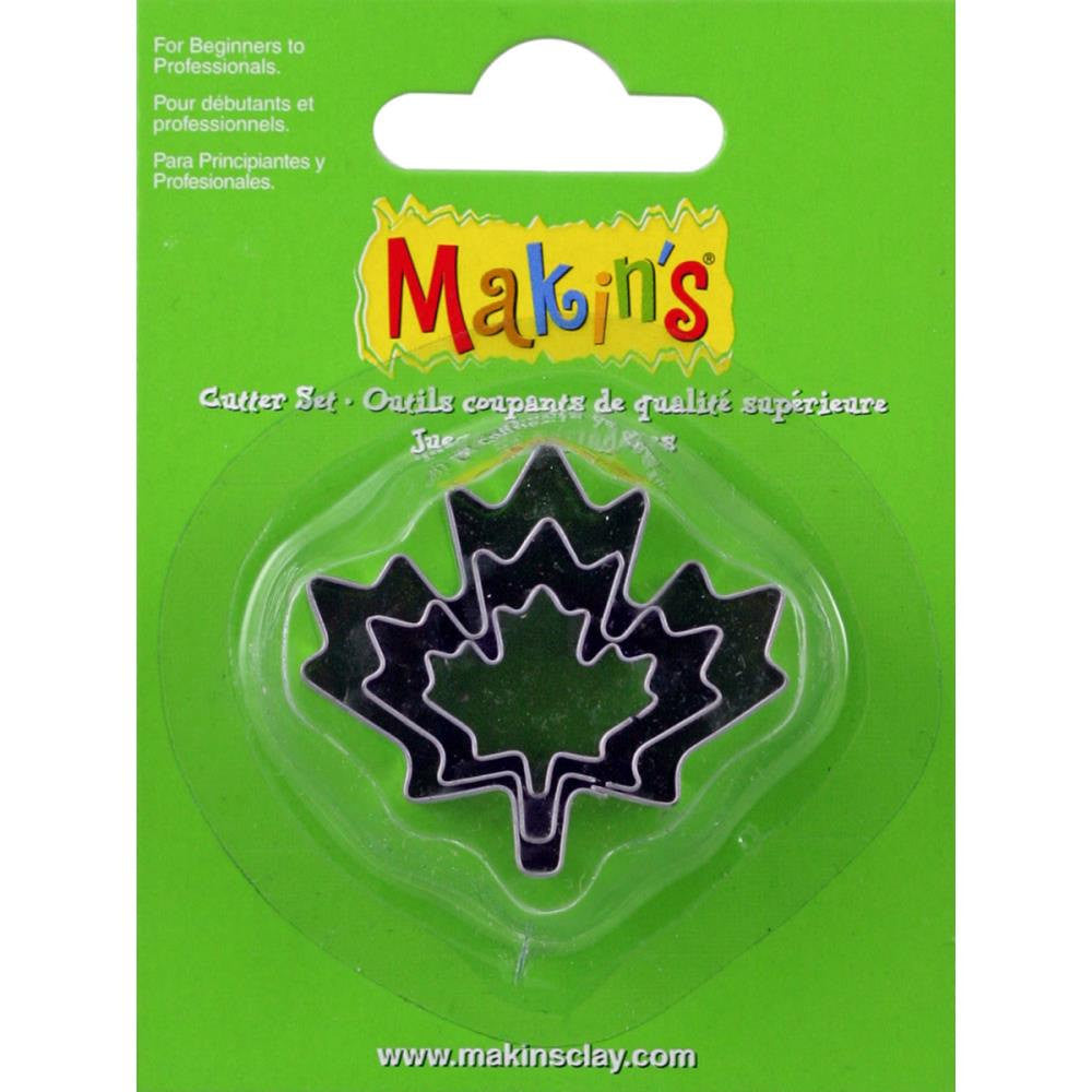 Makin's 3 piece Fall Maple LEAF COOKIE CUTTERS