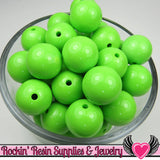 20mm Pea GREEN GUMBALL Beads (10 pieces) Round Chunky Beads - Rockin Resin  - 3