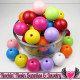 24mm GUMBALL Beads Mix (8 pieces) Solid Round Acrylic Beads - Rockin Resin  - 3