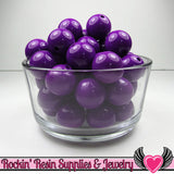 20mm Deep Purple GUMBALL Beads 10 pieces Round Acrylic Beads - Rockin Resin  - 2