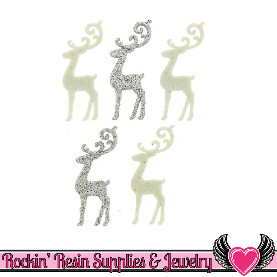 Jesse James Buttons 5pc Christmas ELEGANT REINDEER Buttons