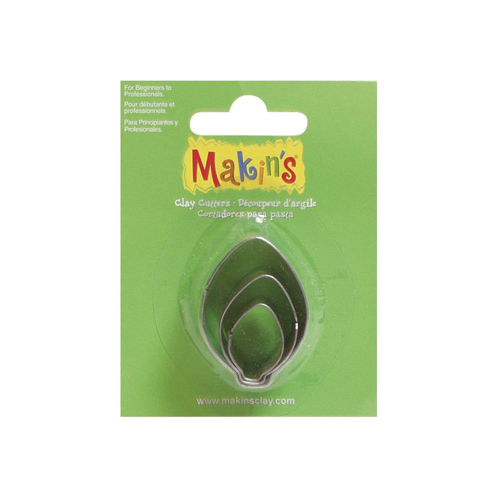 Makin's 3 piece Leaf, Light Bulb, or Christmas Ornament COOKIE CUTTERS