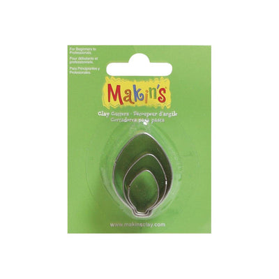 Makin's 3 piece Leaf, Light Bulb, or Christmas Ornament COOKIE CUTTERS - Rockin Resin