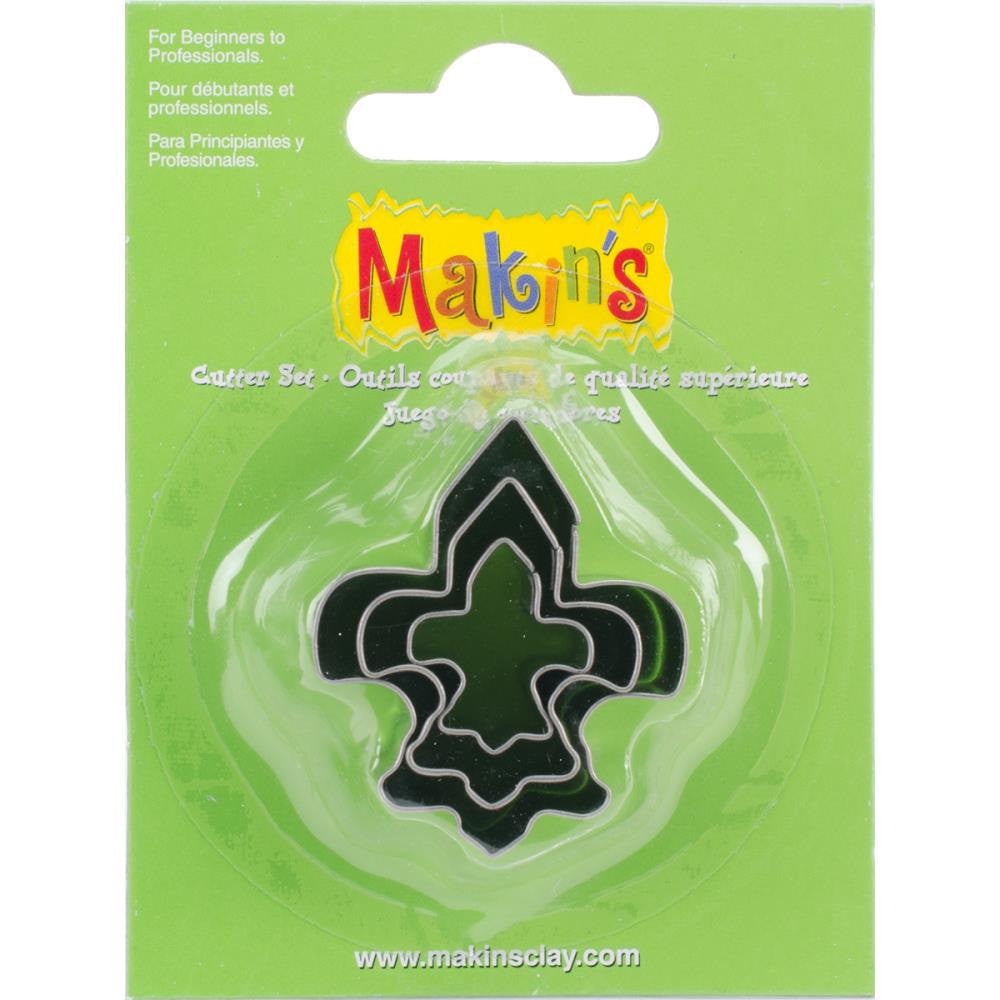 Makin's 3 piece FLEUR de lis COOKIE CUTTERS