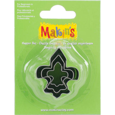 Makin's 3 piece FLEUR de lis COOKIE CUTTERS - Rockin Resin