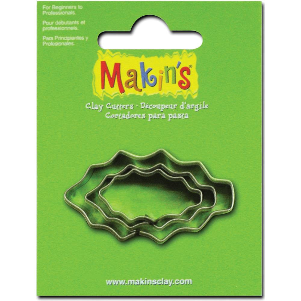 Makin's 3 piece Christmas Holly Leaf COOKIE CUTTERS