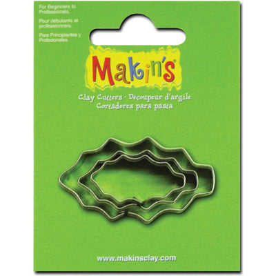 Makin's 3 piece Christmas Holly Leaf COOKIE CUTTERS - Rockin Resin