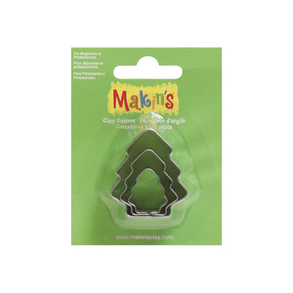 Makin's 3 piece Christmas TREE COOKIE CUTTERS
