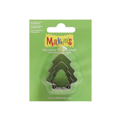 Makin's 3 piece Christmas TREE COOKIE CUTTERS - Rockin Resin