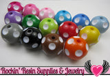 20mm Polka Dot Beads, Multi Color Mix, chunky bubblegum beads, 10 ct - Rockin Resin  - 3