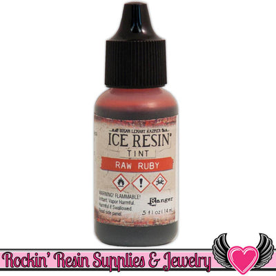 ICE RESIN TINTS Raw Ruby Red, 0.5 fl. oz. resin colorant