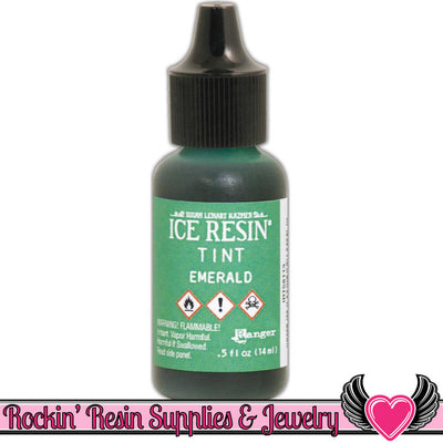 ICE RESIN TINTS Emerald Green, 0.5 fl. oz. resin colorant