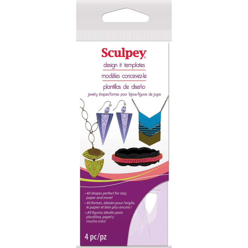 Sculpey Jewelry Shapes Design It Templates Stencils