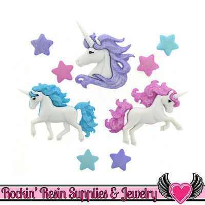 Jesse James Buttons 9 pc MAGICAL UNICORNS Buttons
